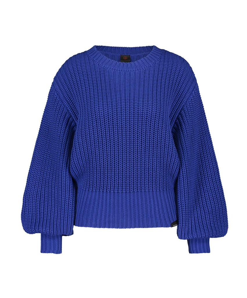 Blauwe gebreide dames trui Penn & Ink - W19B053