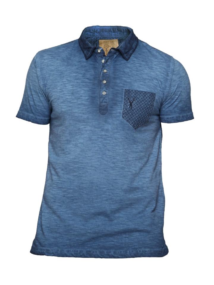 t-shirt blauw Pearly King brisk Grey