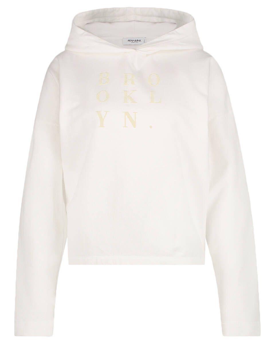 Witte dames hoodie - Penn & Ink - W21f968 - 004 -03 offwhitd