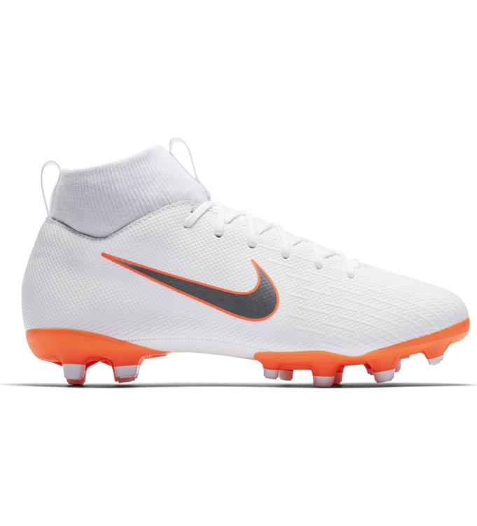 Wit Oranje Kids Voetbalschoen Nike VAPOR 6 ACADEMY GS MG - AH7337-107