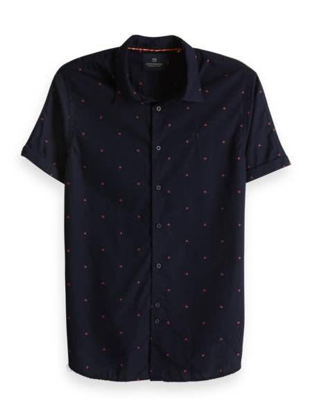 Donker blauwe blouse met korte mouwen Scotch & Soda - 148930