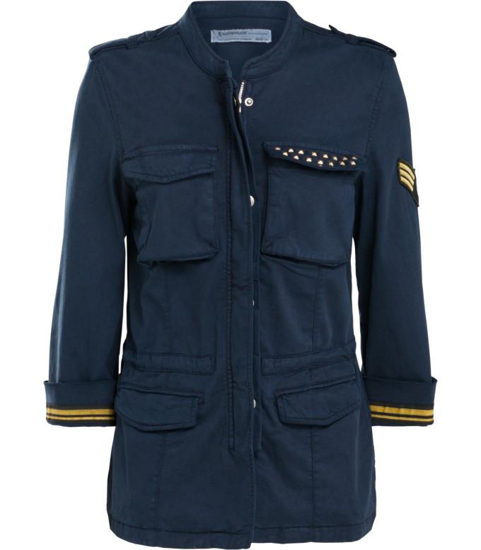 Donkerblauw dames military jack Summum - 1S844