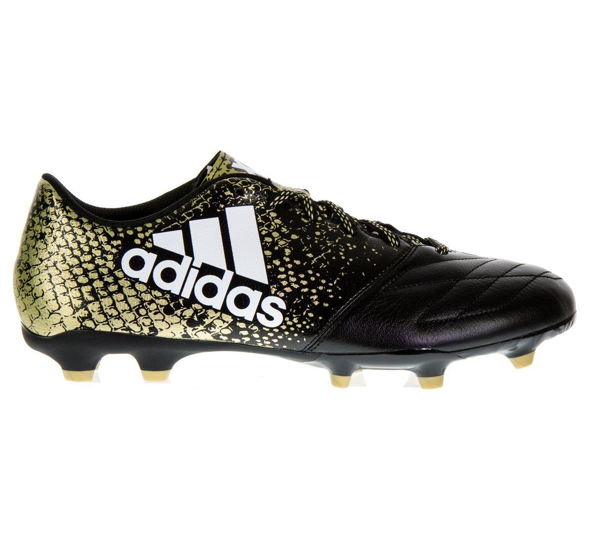 Zwart/Goud Voetbalschoen X 16.3 FG Leather BB4195