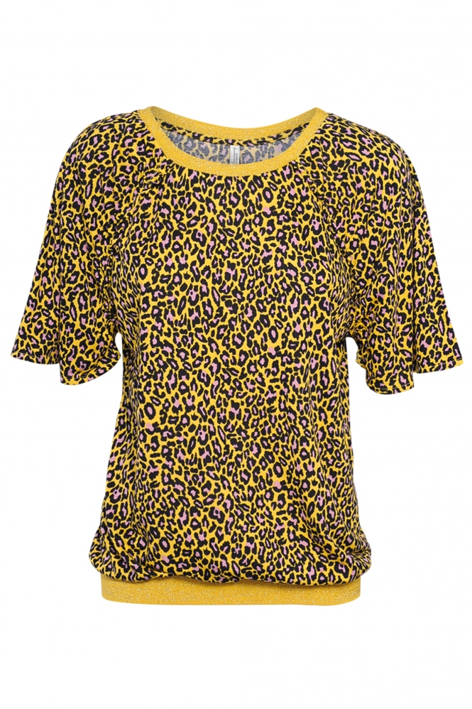 Gele dames top met print Summum - 3s2424-30024