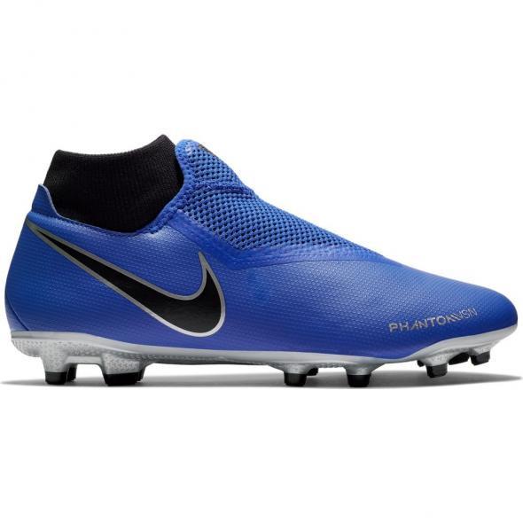 Blauwe voetbalschoenen Nike Phantom VSN Acedemy DF FG/MG - AO3258 400