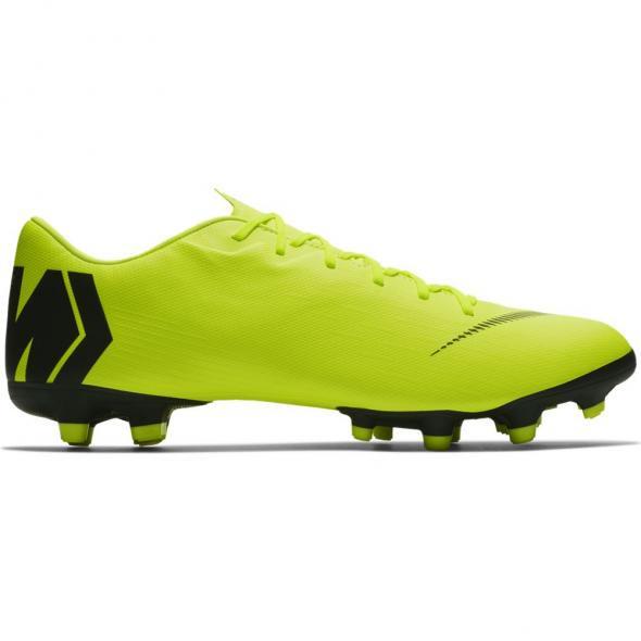 Neon Gele voetbalschoenen Nike Vapor 12 Academy FG/MG - AH7375 701