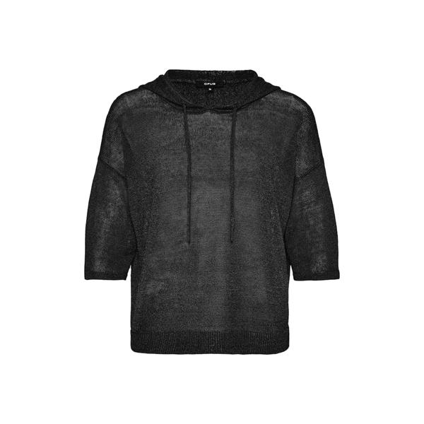 Zwarte dames zomer hoodie trui - Opus - Pipanello - 900