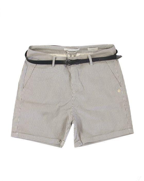 Zwart wit gestreepte dames korte broek Maison Scotch - 143790
