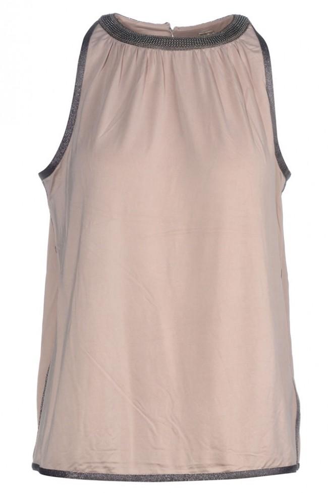 Roze dames top met kraal detail Gustav - 28719