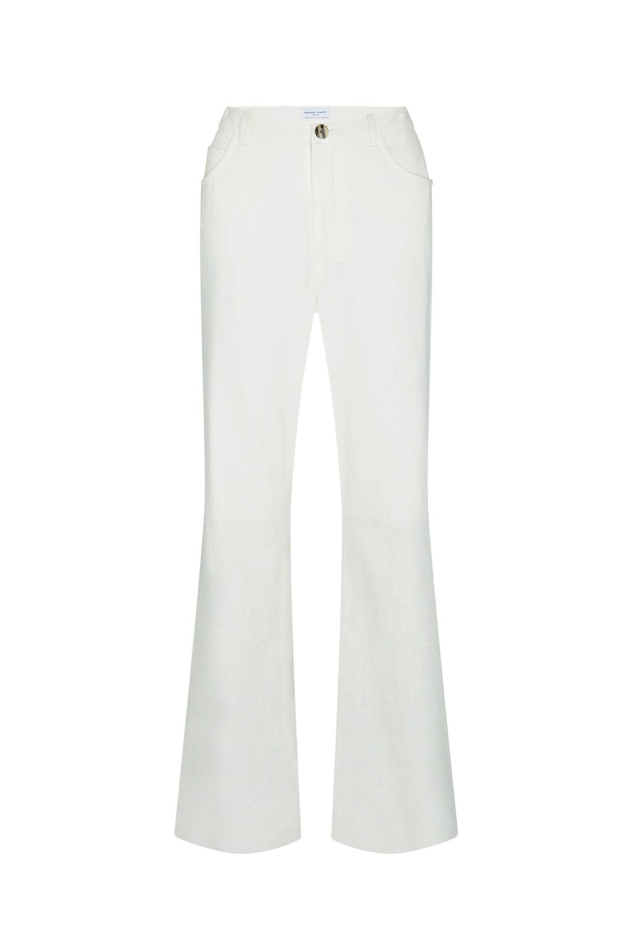 wit creme dames broek - fabienne chapot - sofi trousers - cream white