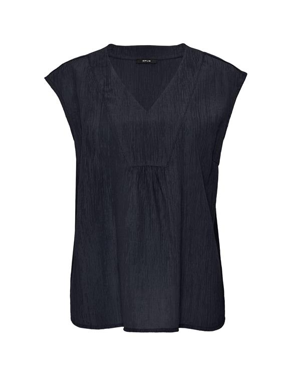Blauw dames shirt - Opus - farani crepe blouse top - 6084