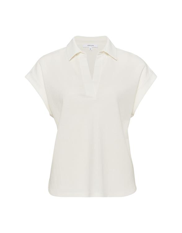 Witte dames polo blouse - Opus - silou - 1004