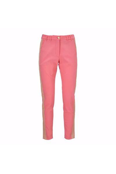 Roze dames broek met streep Gustav - 6576 0 865