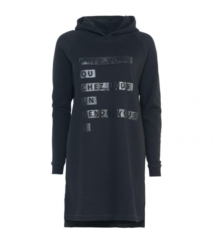 Zwarte dames sweaterjurk Summum - 3s4066
