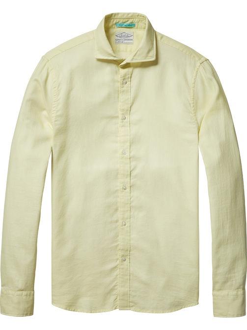 Licht geel overhemd Scotch & Soda 130695
