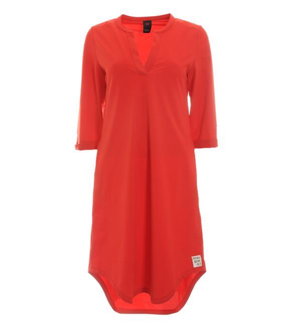 Rode jurk Penn & Ink W216N25