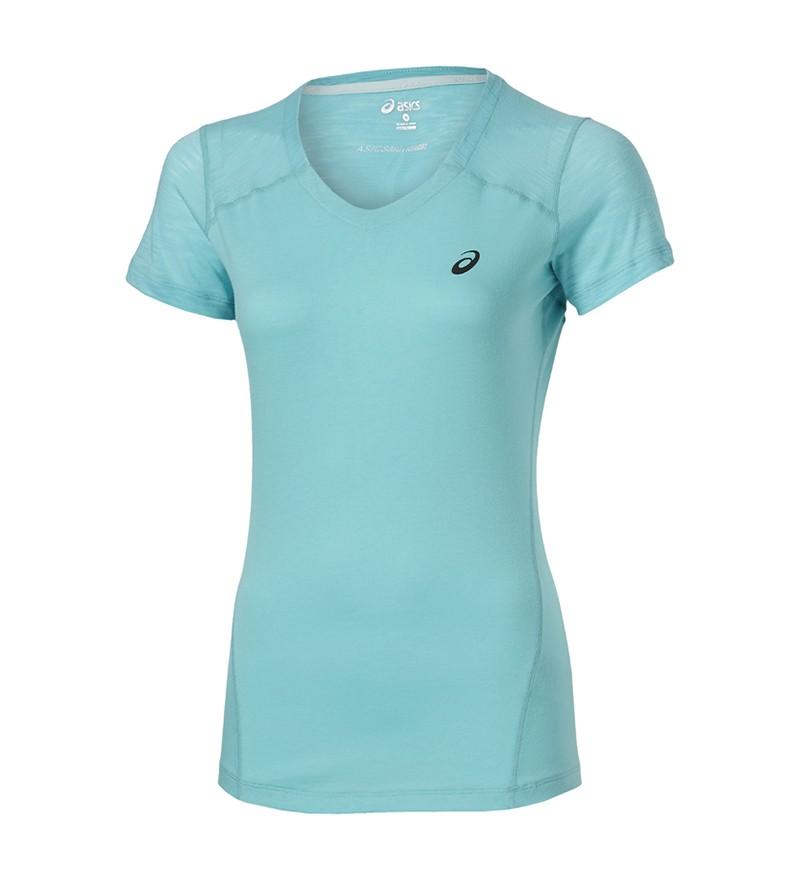 Turquoise running Tshirt Asics 129975 8009