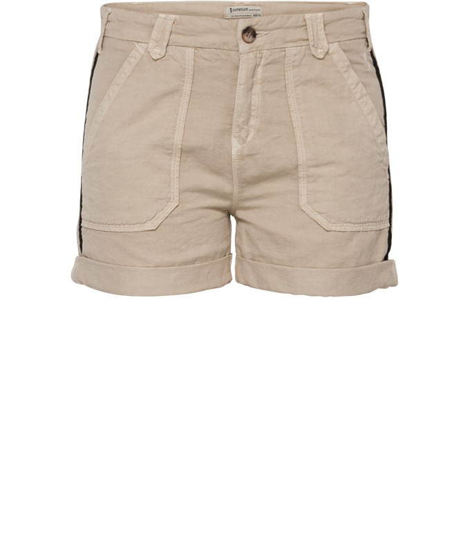 Beige linnen dames short Summum - 4s1332-10259