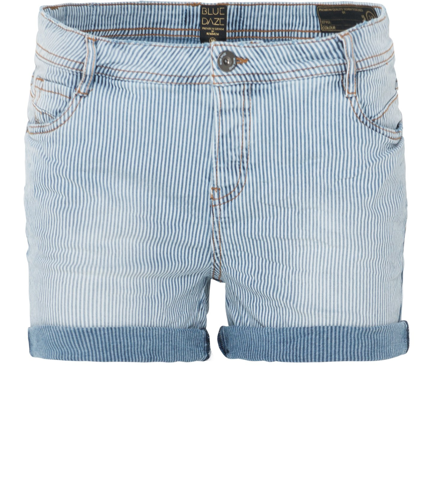 Lichtblauw gestreepte dames korte broek Summum - 4s1496
