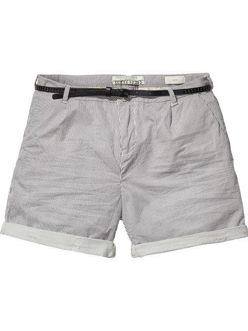 zwart-wit gestreepte korte broek Maison Scotch 131417 S