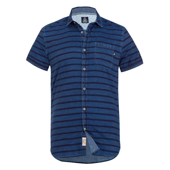 blauw gestreept korte mouw overhemd Gaastra Marlinspike