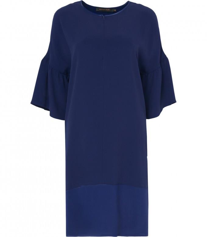 Blauwe lange dames jurk Summum - 5s868