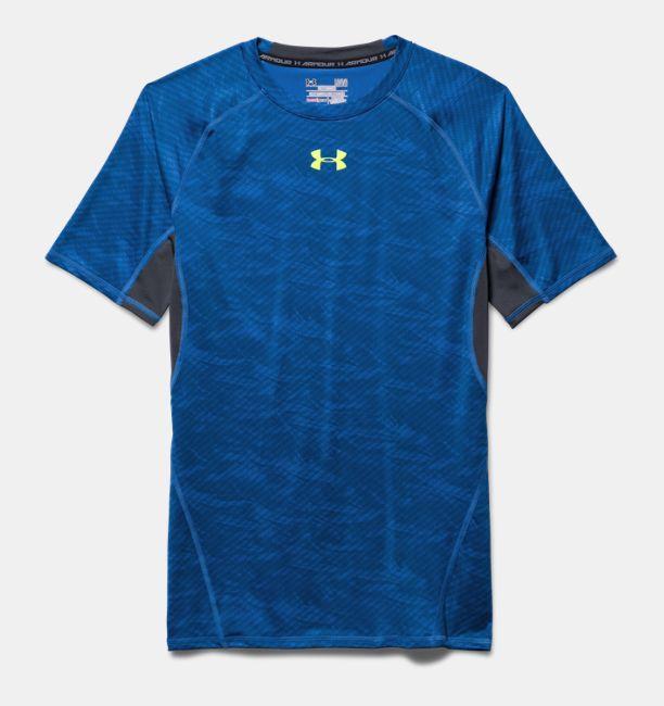 Blauw compressie tshirt Under Armour 1257477 438