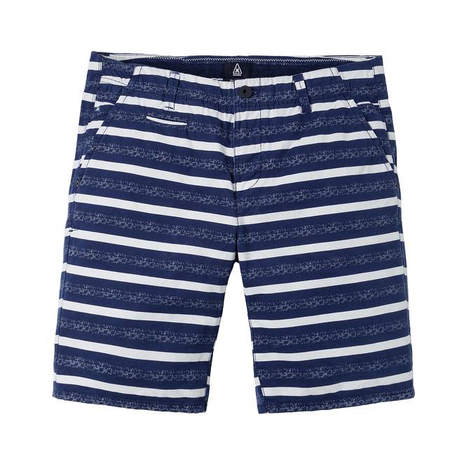 blauw wit gestreept heren Gaastra Deck chino short AOP