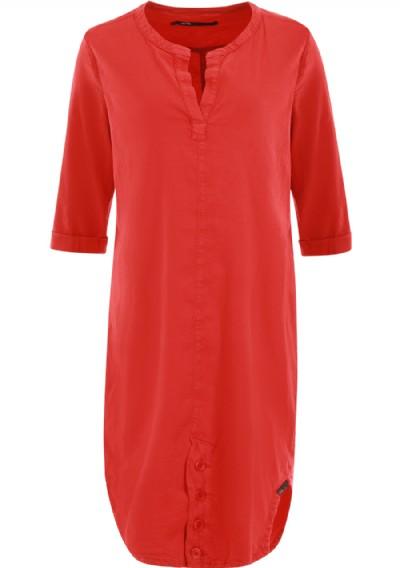 Rode linnen dames jurk Penn & Ink - S18W041LTD