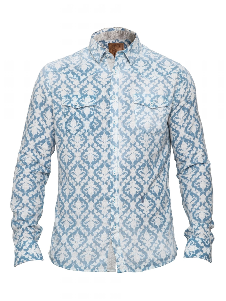 Blauw met witte blouse Pearly King Hysteria