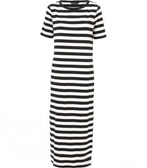 zwart-wit gestreepte jurk summum 3s3886 990