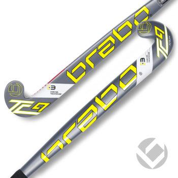 Grijze neon gele kinder kunststofstick Brabo G-Force TC9-24