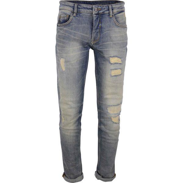Lichtblauwe heren jeans scheuren No Excess - 82710D17