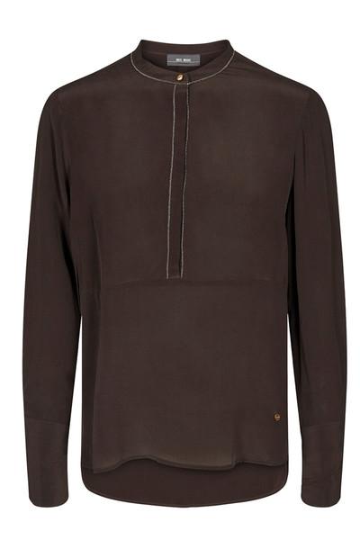 Bruine dames blouse met lange mouwen Mos Mosh - 129900-636