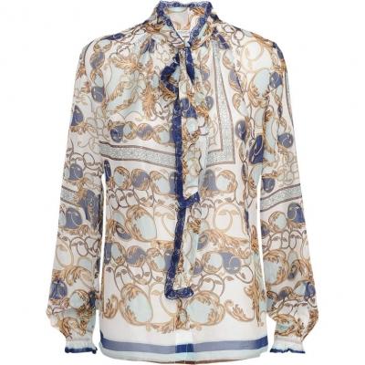 Doorschijnende dames blouse met print Summum - 2S2303-10959