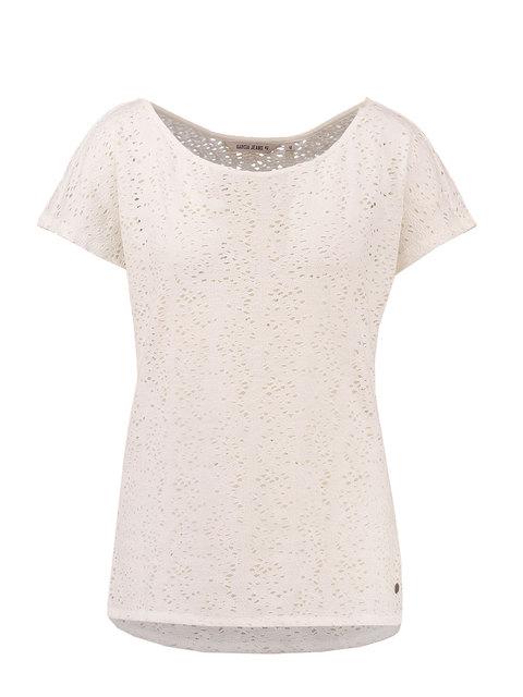Wit dames shirt gaatjes Garcia - E70004