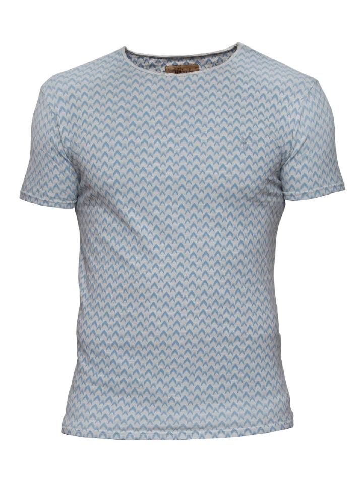 blauw grijs print tshirt Pearly King Purpose grey