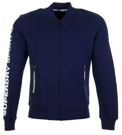 Blauwe heren bomber Superdry - Rich Navy