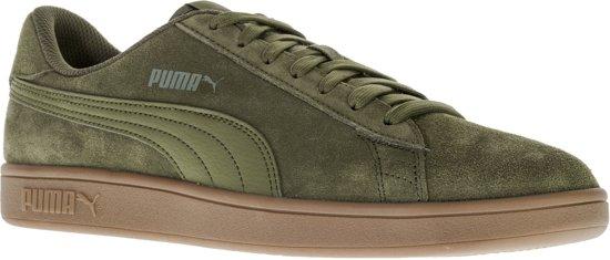 Groen Bruine heren sneaker Puma Smash V2 - 364989-12