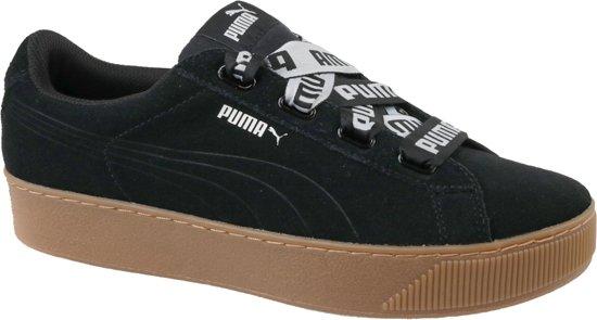 Zwarte bruine Dames sneaker Puma Vikky Pltfm Ribbon Bold - 365314-01