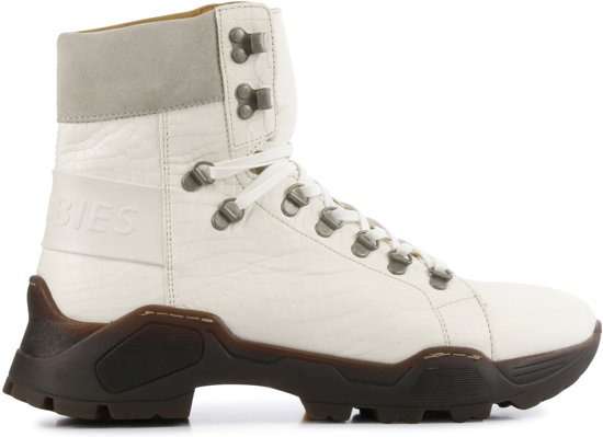 Leren veterboots voor dames Shabbies - 102020024 - Off White