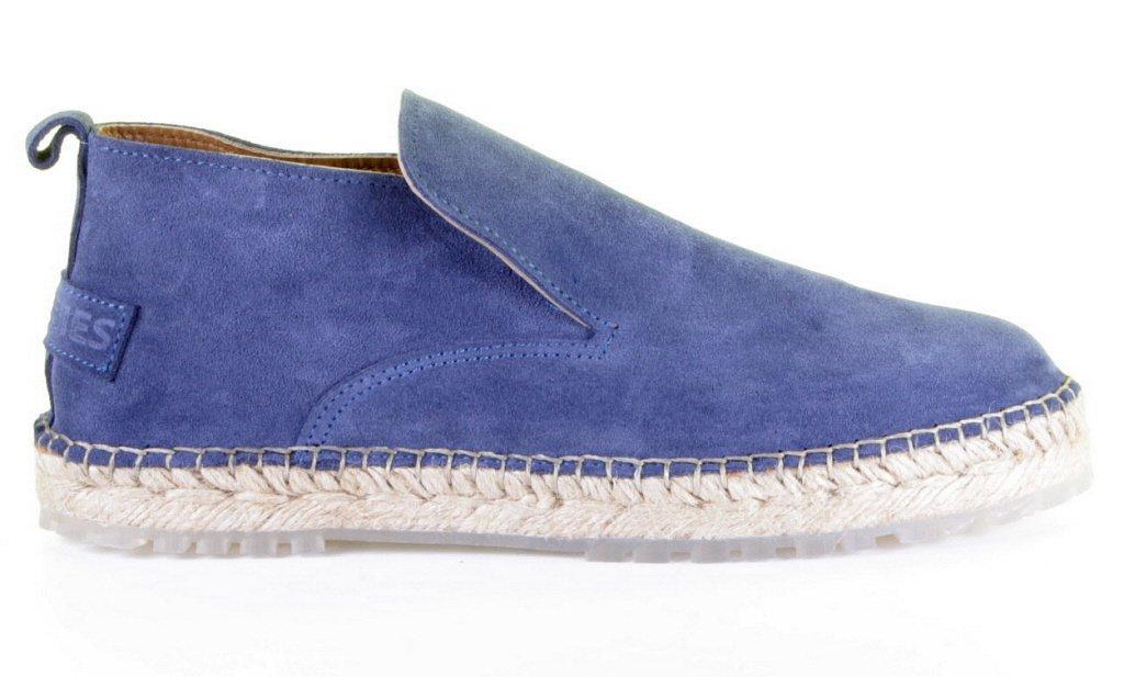Blauwe dames espadrille met verstevigde zool Shabbies - 152020007