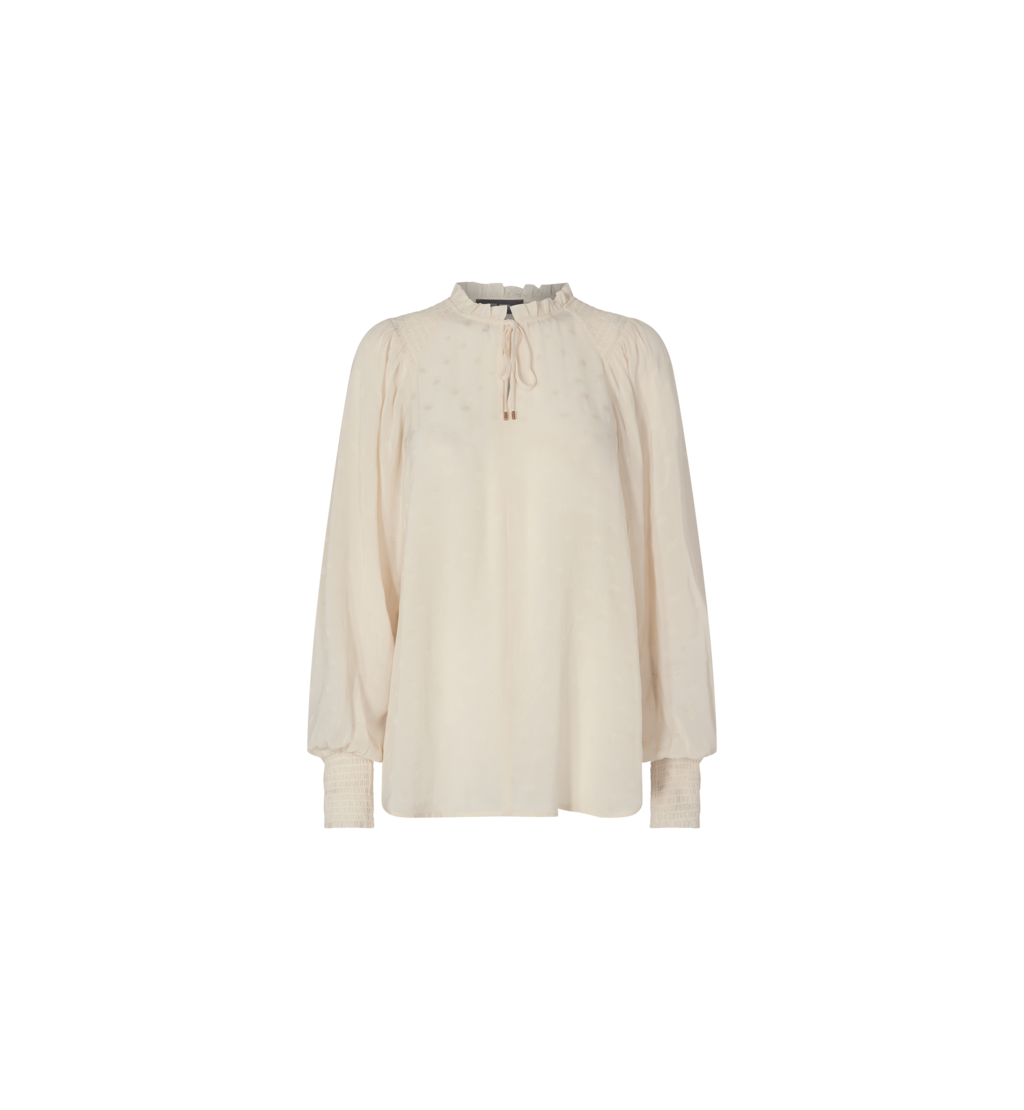 Witte room blouse - Mos Mosh - Eisa dot blouse - 139960-180