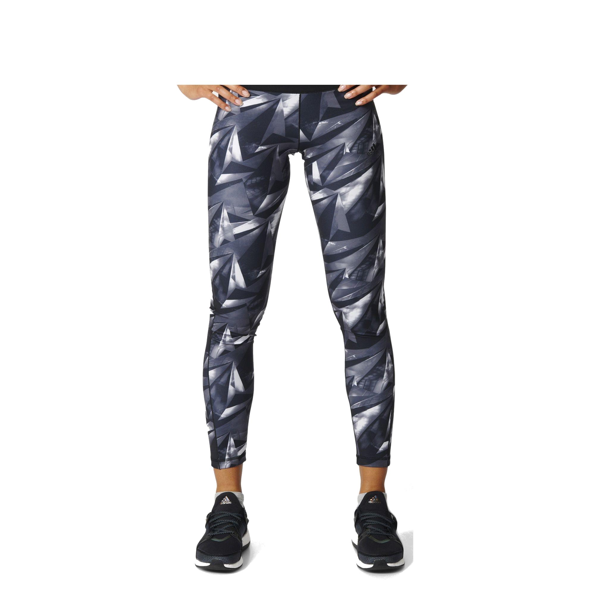 Zwarte dames hardloopbroek Adidas