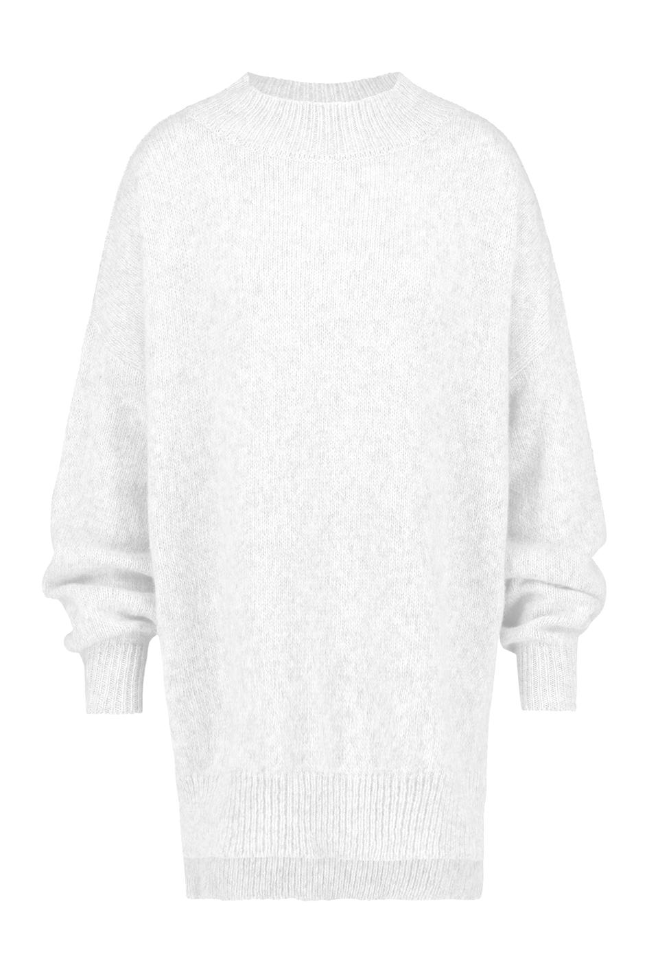 Witte lange dames trui Penn & Ink - W19L110LTD