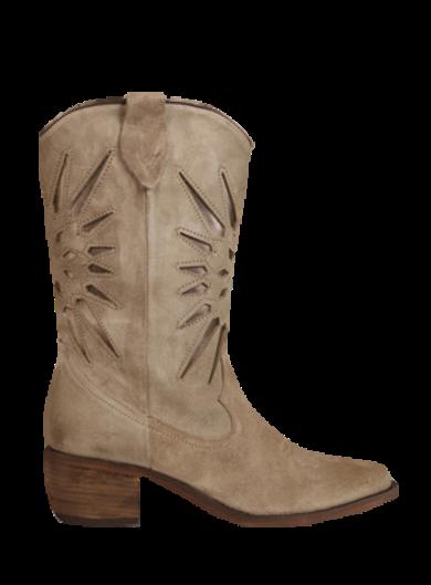 Taupe kleurige dames cowboylaarzen - Shoecolate - 8.20.08.036.01 - taupe