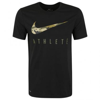 Zwart heren t-shirt M NK DRY TEE DB ATHLETE CAMO Nike - BQ0175 1403