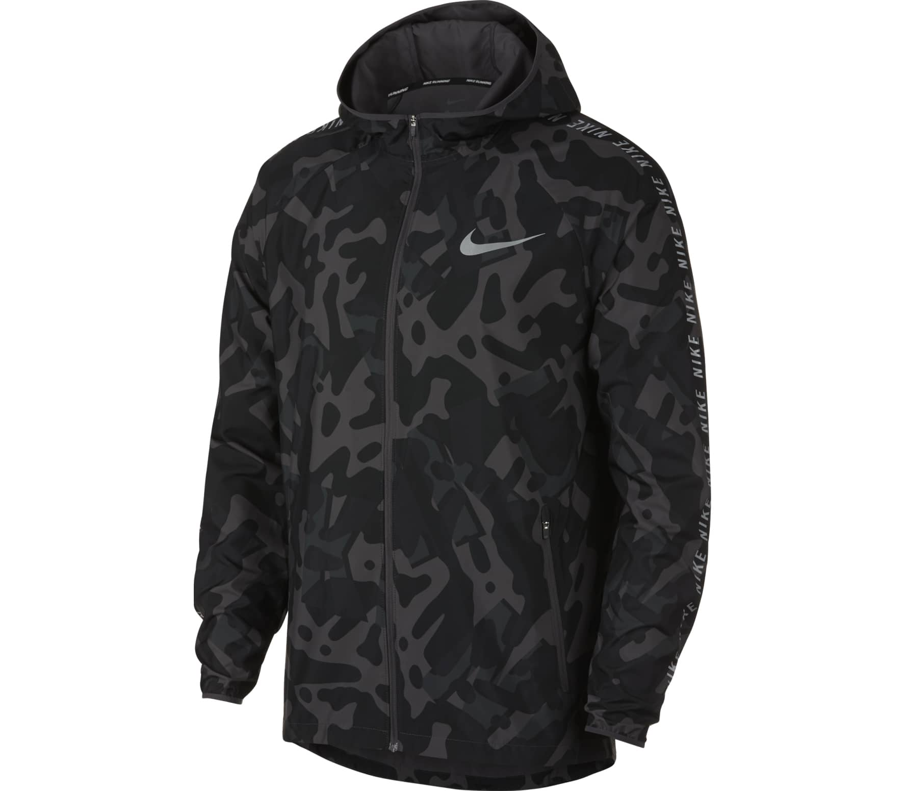 Zwart grijze camouflage heren sportjack Nike Essentials - 929423 010