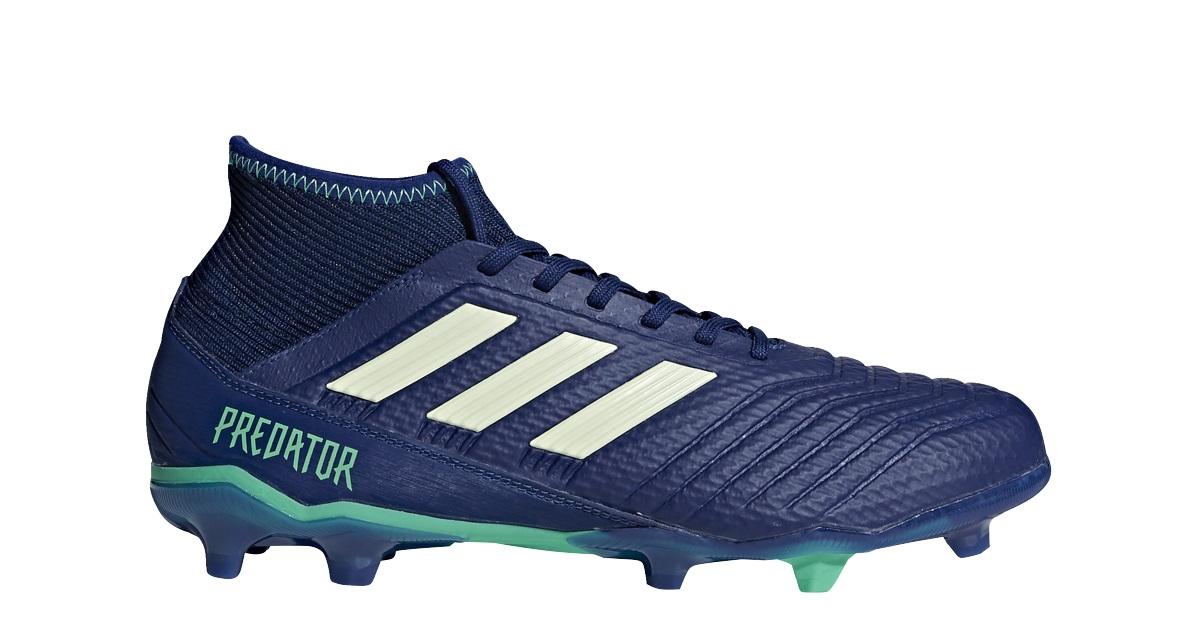 Blauw groene  Kids voetbalschoen Adidas Predator 18.3 FG - CP9012