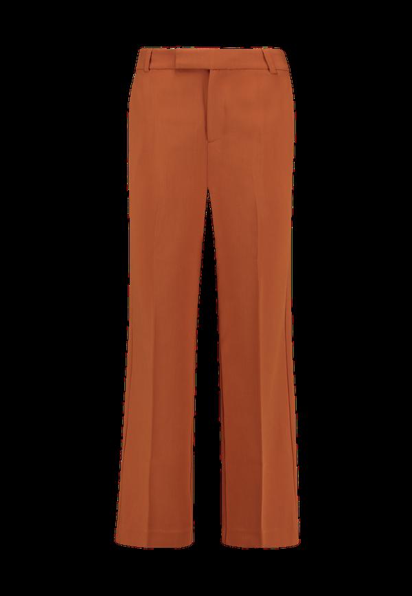 Bruine dames pantalon met wijde pijp Aaiko - Calinda 181142